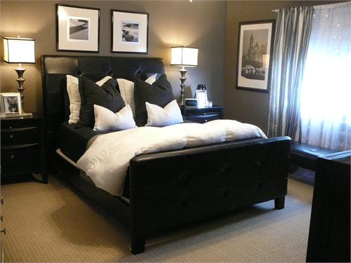 Black and Taupe Bedroom 500 x 375