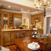 Coastal Living - kitchens - maple cabinets, island, crown molding,  Maple kitchen cabinets and butcher block countertops!  Love the gray paint