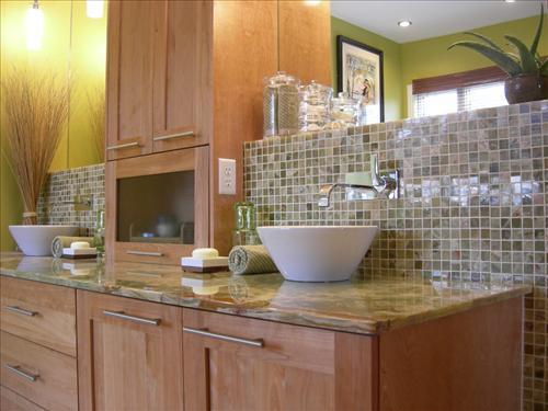 Maple Cabinets - Transitional - bathroom - HGTV