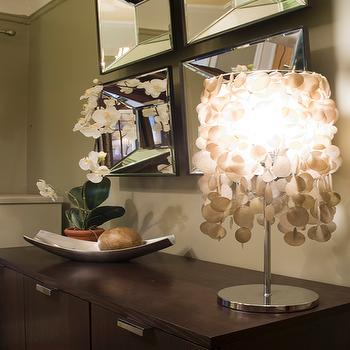 Aquare Beveled Mirrors, Contemporary, entrance/foyer, Ralph Lauren Cairo Brown, Apartment Therapy