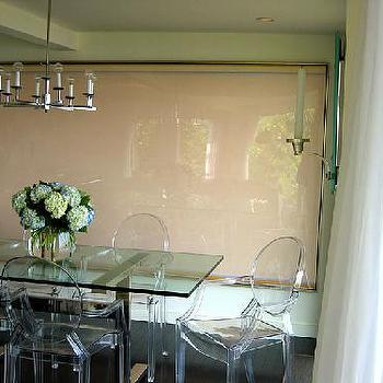 M. Design Interiors - dining rooms - lucite dining table, lucite dining chairs, ghost chairs, ghost dining chairs, Ghost Chair,  Glass dining