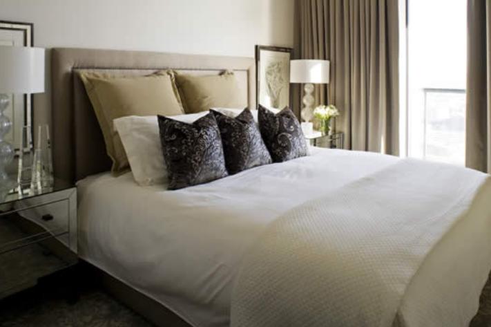 Mirror Nightstands - Contemporary - bedroom - Kimberley Seldon Design ...