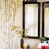 bathrooms - zen, asian, black, faux bamboo, mirror, faux bamboo mirror, bamboo mirror, pagoda mirror, black faux bamboo mirror, black bamboo mirror, black pagoda mirror,