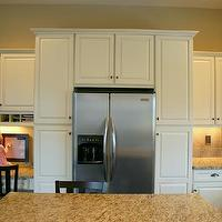 kitchens - white, glass-front, cabinets, granite, countertops, kitchen, island,  kitchen  white glass-front cabinets, granite countertops, kitchen