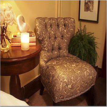 Damask Chair, Transitional, bedroom, Teresa Meyer Interiors