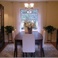 Parsons Dining Chairs Contemporary Dining Room