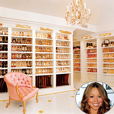 Bedroom Closet Design on Closet Shoe Racks  Shoe Closet  Walk In Shoe Closet  Celebrity Closet