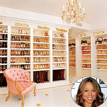 Walk In Shoe Closet, Contemporary, closet