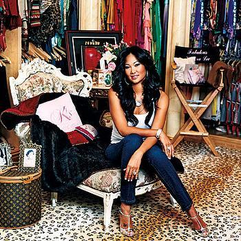 closets - leopard print, louis vuitton, closet chaise, leopard rug, leopard print rug, leopard print, closet chaise lounge, celebrity closet,
