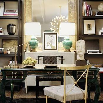 Gold Floor Mirror, Contemporary, den/library/office, Kelly Wearstler