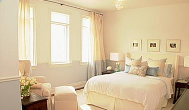 Two Tone Painting Ideas Transitional Bedroom Sarah