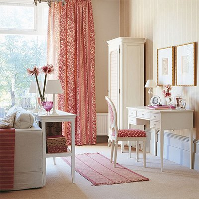 Design Ideas  Home Office on House To Home   Dens Libraries Offices   Office  Desk  Pink  Coral