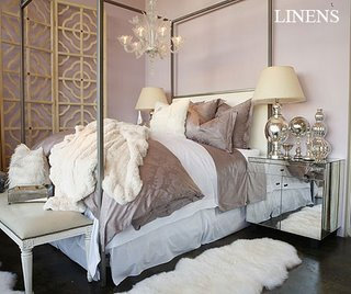 Full Size Bedroom Sets on Bedrooms   Ikea Ludde  Lilac  Mirrored  Canopy  Bed  Mirrored