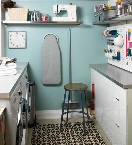 Craft Room and Laundry Room - Vintage - laundry room - House & Home