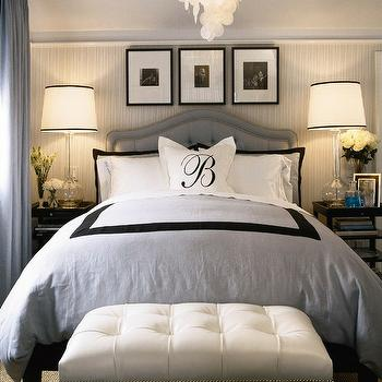 White and Blue Bedroom, Transitional, bedroom, Barclay Butera
