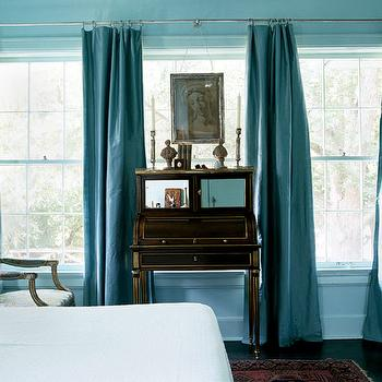Turquoise Curtains, Transitional, bedroom, My Home Ideas
