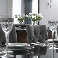 dining rooms - gray, grey, tufted, velvet, chair, black, dining table, mirror, dining room, velvet dining chair, gray velvet dining chair, dining chairs, tufted dining chairs, gray tufted dining chair, velvet tufted dining chairs, gray velvet tufted dining chairs,