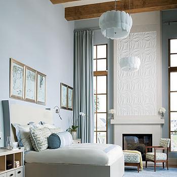 Comfort Gray Contemporary Bedroom Sherwin Williams Comfort Gray