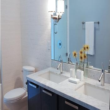 Aimee Kim - bathrooms - subway tiles, faucet, light fixture, undermount sinks, modern faucets, modern bathroom faucets, his and her sinks, double vanity,