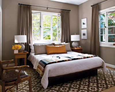 Taupe bedroom transitional bedroom elle decor - Elle decor bedrooms ...