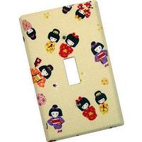 Decor/Accessories - Geisha Girls Light Switch Plate - light switch plate, geisha