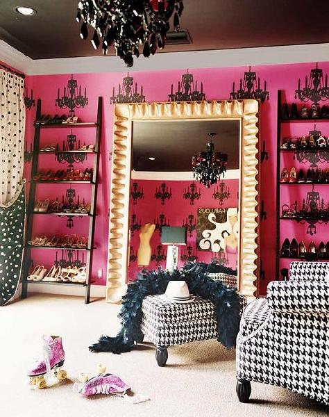 closets - shoe shelves, chair, ottoman, floor mirror, pink, black, white, closet, shoe shelves, shelves for shoes, shoe storage, shoe closet, closet shoe shelves, shoe racks, closet shoe racks, shoe ladder, shoe ladders, black shoe ladders,