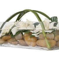 Decor/Accessories - Jayson Home & Garden :: floral :: FLORAL IDEAS :: GARDENIAS & ROCK - gardenias, floral, flower arrangement, rocks
