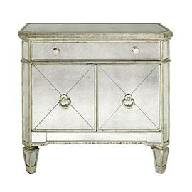 Storage Furniture - Z Gallerie - Borghese Nightstand - mirrored, nightstand