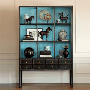 Storage Furniture - Gump's San Francisco - Cerulean Display Case - display case