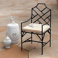 Seating - Gump's San Francisco - Pagoda Armchair - chair, outdoor chair, outdoor furniture