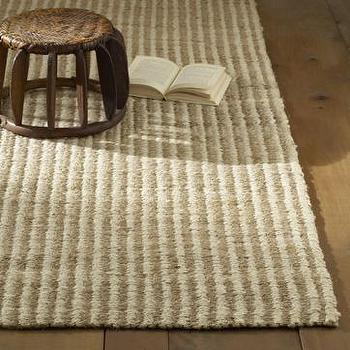 jute stripe rug, west elm