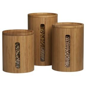 Decor/Accessories - Bamboo Canisters shopping in Crate and Barrel Prep - canisters