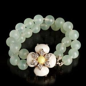 Miscellaneous - Double-strand Jeweled-flower Bracelet - Bracelets - Women - JCrew.com - bracelet
