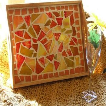 Decor/Accessories - Etsy :: jcollander :: Tangerine Summer Tray  - YART Sale - Summer Tray