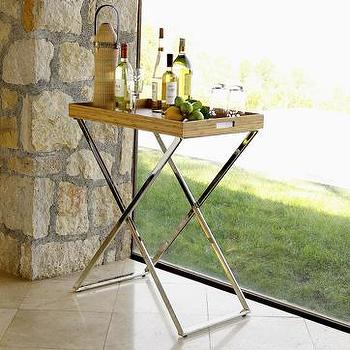 Tables - butler tray + stand | west elm - butler tray, tray, bar
