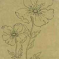Rugs - Candice Olson Rugs - Candice Olson Floral Sketch Rug Pale Green - CO36 - CO36 - Candice Olson Rug