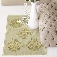 Rugs - sale: vintage emblem chenille rugs-pear/citrus at brocadehome.com - rug