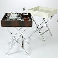 Tables - Z Gallerie - Faux Croc Bar Tables - bar, tray table