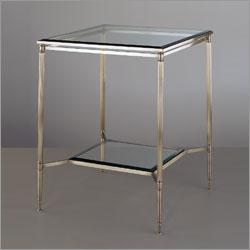 Robert Abbey D907, Porter Side Table in Dark Antique Nickel
