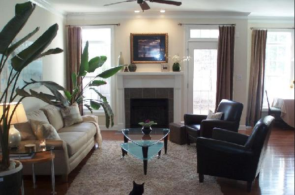 Leather Club Chairs Transitional Living Room Teresa