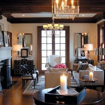 Black Fireplace Transitional Living Room Sullivan