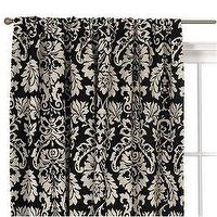 Window Treatments - Waverly�??�?® Damask Window Panel - Black/ White : Target - drapes, curtains