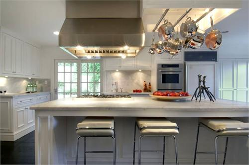 Built In Pot Rack Contemporary Kitchen Hgtv