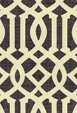 Schumacher, Fabric, Imperial Trellis, Parchment / Midnight