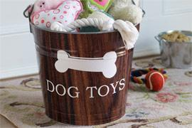 Dog Toys Bucket  $58-Room Service Home