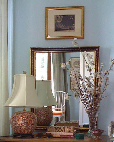entrances/foyers - Benjamin Moore - Ice Blue - blue walls, blue paint colors, blue wall paint,  Style Court  Love the yummy blue walls with the