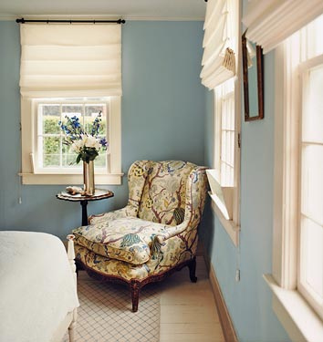 Blue Paint Color Transitional Bedroom Benjamin Moore