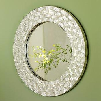 Mirrors - laminated capiz mirror| west elm - Laminated capiz mirror