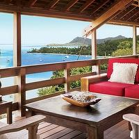 decks/patios - coffee table, outdoor furniture, sofa, view,  dreamy  covered patio deck.