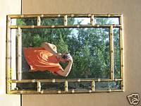 Faux BAMBOO Mirror Gold Gilt Eames Hollywood Regency, eBay (item 200238887311 end time Jul-20-08 14:57:36 PDT)